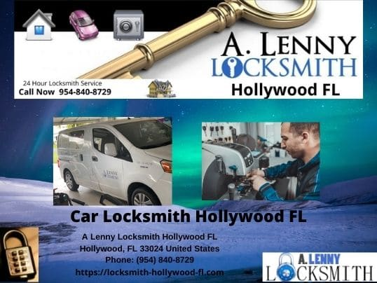 Services offered by A Lenny Locksmith Hollywood FL